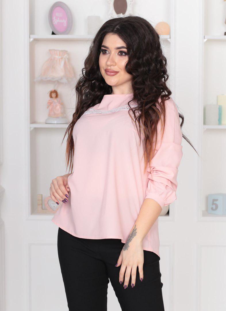 9c9e9b18692 Блузка женская с кружевными вставками батал   продажа