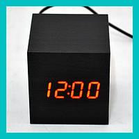 Настольные часы с красной подсветкой VST-869-1