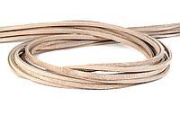 Шнур кожаный бежевый 4 мм, фото 1