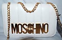 Женский клатч Moschino, сумка на плечо, белый, 1180