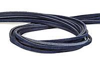 Шнур кожаный синий 4 мм, фото 1