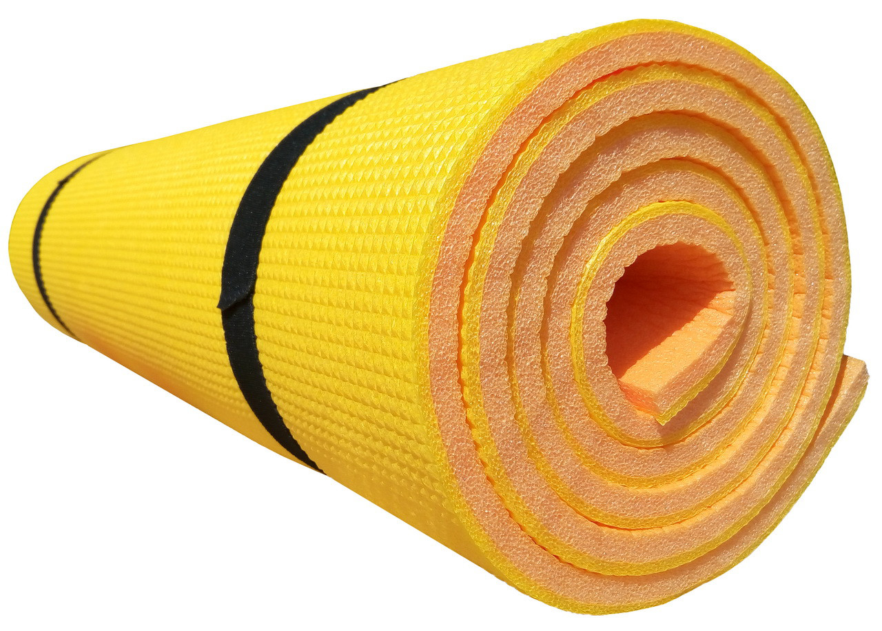 Коврик для йоги и фитнеса «Premium-12» 1800х600х12 мм