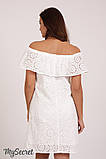 Нарядное платье для беременных и кормящих ELEZEVIN DR-28.043 молочное, фото 5