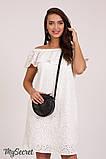 Нарядное платье для беременных и кормящих ELEZEVIN DR-28.043 молочное, фото 7