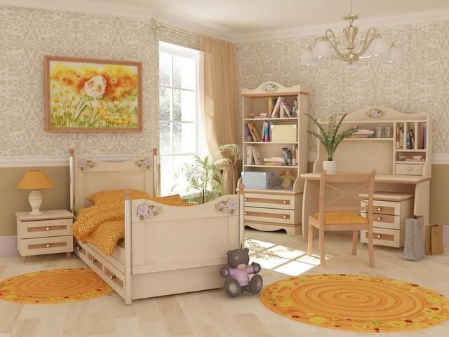 Детская комната Angel береза и вишня