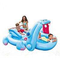 Водный игровой центр с горкой Бегемотик Intex 57150