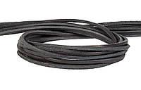 Шнур кожаный черный 4 мм, фото 1