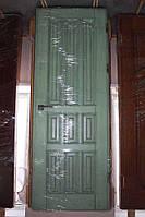 Дверной блок Лазурь, в массиве ясеня, патина под старину (Д-29)