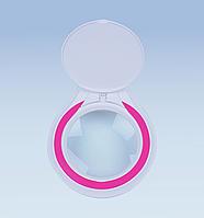 Led лампа 3 D белая  металлическая с розовым кантом, фото 1