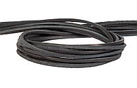 Шнур кожаный черный 3 мм, фото 1