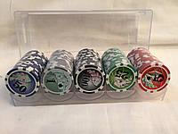 Фишки для покера утяжеленные с номиналом 100 шт, фото 1
