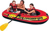 Надувная лодка Explorer Pro Intex 58357 с веслами и насосом