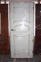 Дверное  полотно, в массиве ясеня, патина под старину (Д-32)