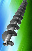 Шнек  110 мм спираль толщина 4 мм шаг спирали 110 мм.