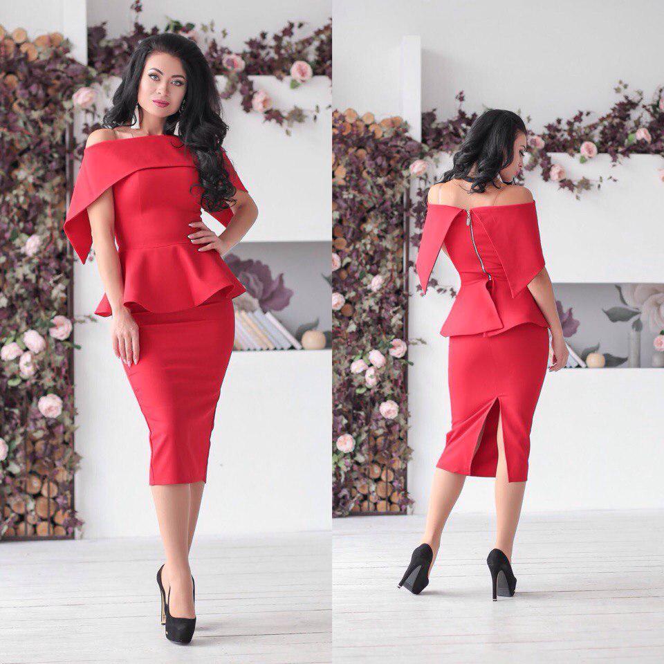 645a5c5ae6c Костюм женский баска и юбка в расцветках 24639 - Интернет-магазин