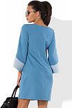 Блакитне плаття з оригінальними рукавами Д-1051, фото 2