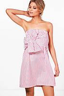 Сарафан Boohoo Petite Louisa Stripe tie front sundress