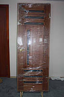 Дверное полотно, в массиве ясеня, со стёклами, тон/лак  (Д-33)