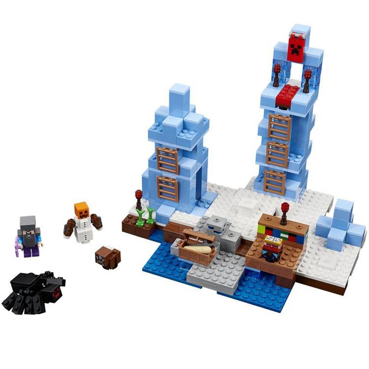 Конструктор Lepin Minecraft Ледяные шипы (Серия Cubeworld)  386 дет.