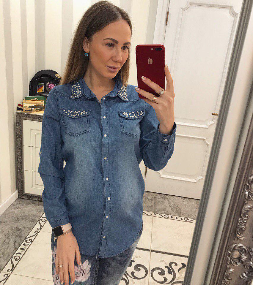 1f14e63e096 Женская стильная джинсовая рубашка   продажа