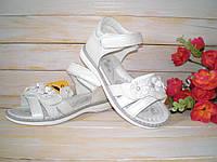 Кожаные белые босоножки р31 для девочки ТМ Clibee 31