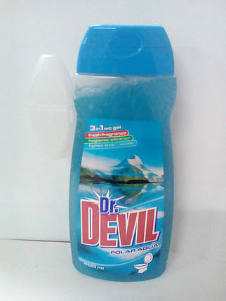 Dr. Devil 3в1  WCgel 400мл гель для туалета Полярна вода (6048), фото 2