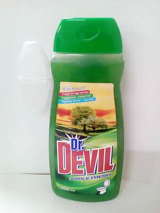 Dr. Devil 3в1  WCgel 400мл гель для туалета Яблуко (6031) , фото 2
