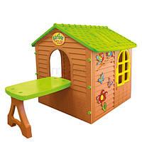 Детский домик Mochtoys со столиком и табуреткой  (игровой домик для улицы и дома)