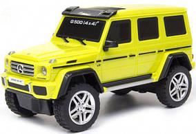 Автомодель - MERCEDES-BENZ G500 (ассорти желтый, серебристый,1:26, свет, звук, инерц.)