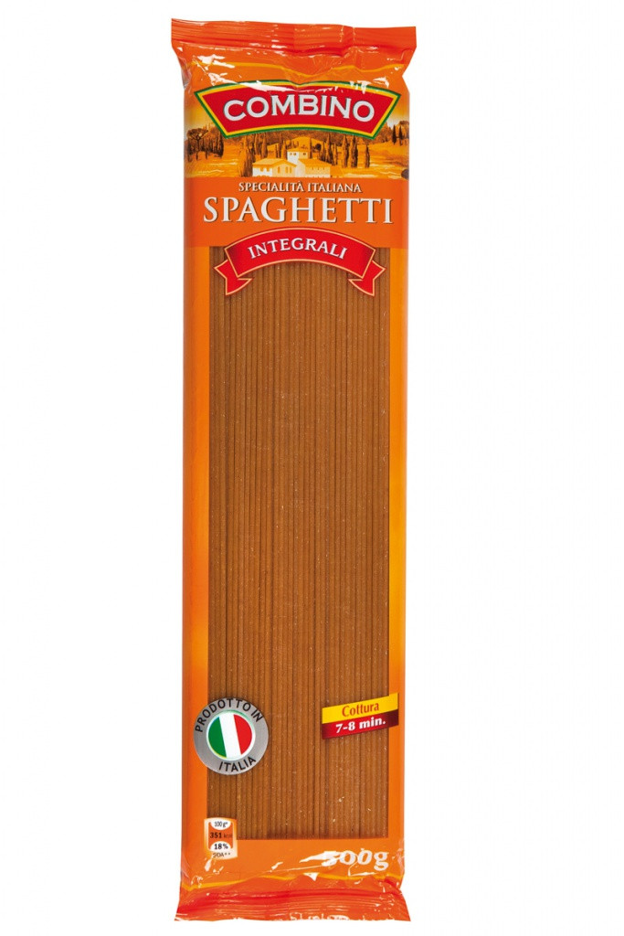Спагетти с отрубями Combino Integrale «Spaghetti», 500 г.