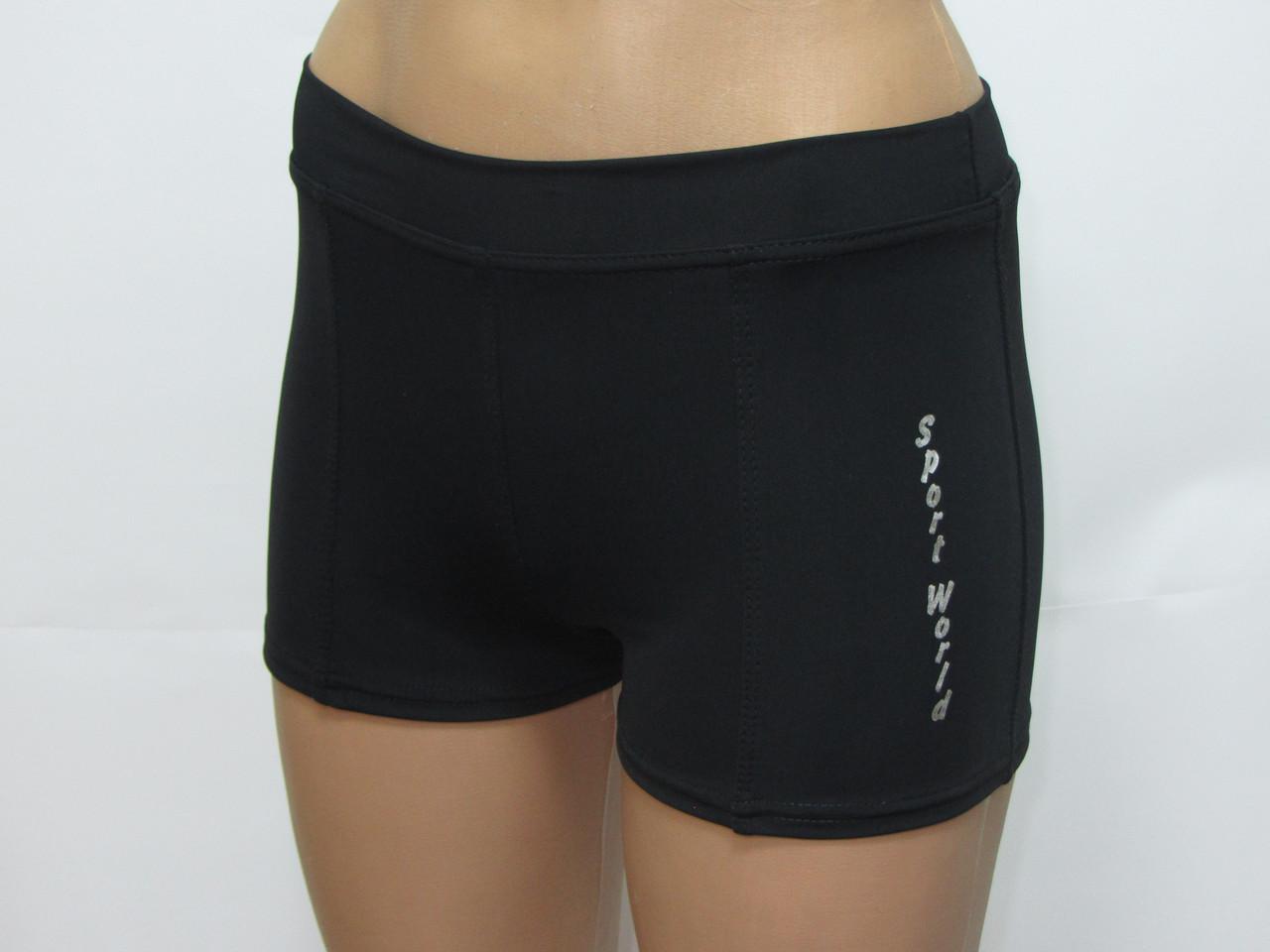 Короткие женские шорты для фитнеса черные