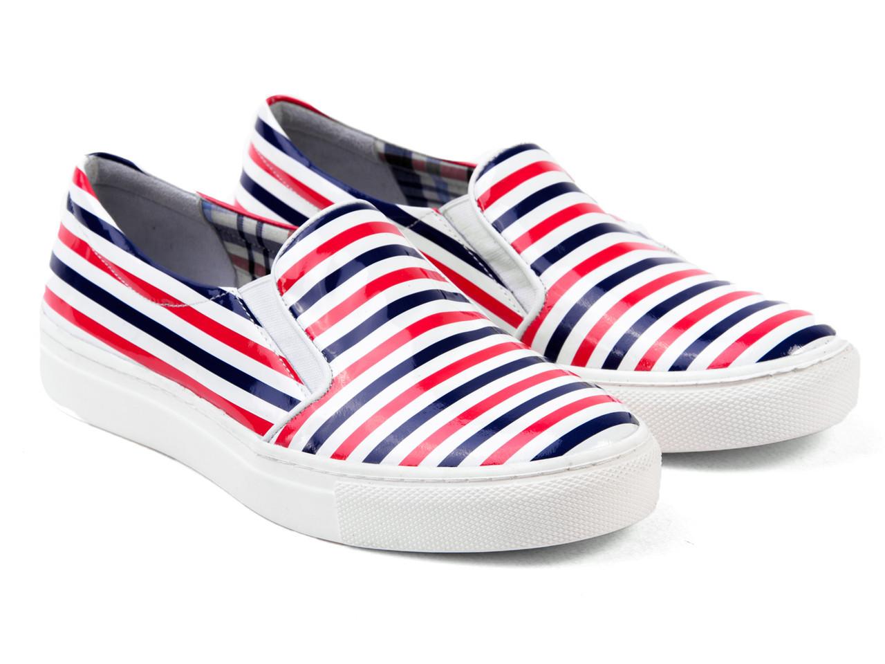 Сліпони Etor 4466-7165-2 білий+синій+червоний