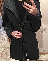 Женское серое пальто, фото 1