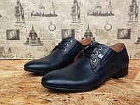 Туфли мужские YDG Bellini 1811 с натуральной кожи стильные, фото 1