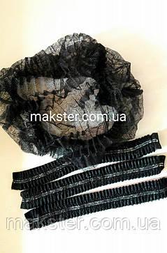 Шапочка гармошка одноразовая черная, фото 2