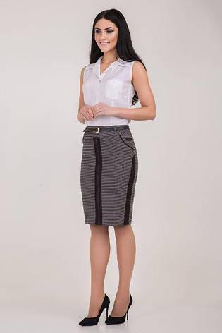 """Красивая стильная прямая женская юбка """"Рубина"""", фото 2"""