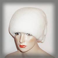 Меховая шапка из белой норки, фото 1