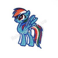 Термо-нашивка на одежду My little Pony Радуга