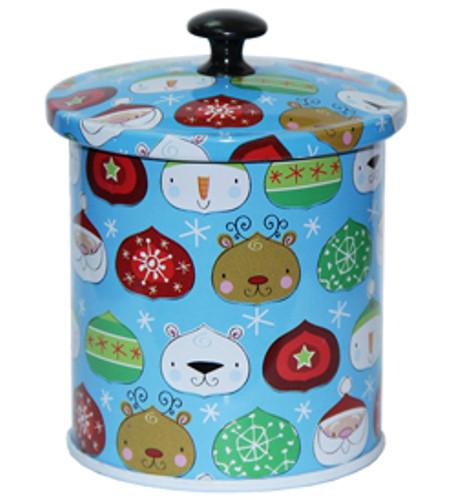 Железная банка для чая и кофе Идея Новогодний мотив, 7х6см, 50г ( баночка для сыпучих )