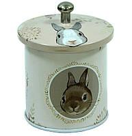 Железная баночка для чая и кофе Идея Кролик, 7х6см, 50г ( банка для сыпучих )