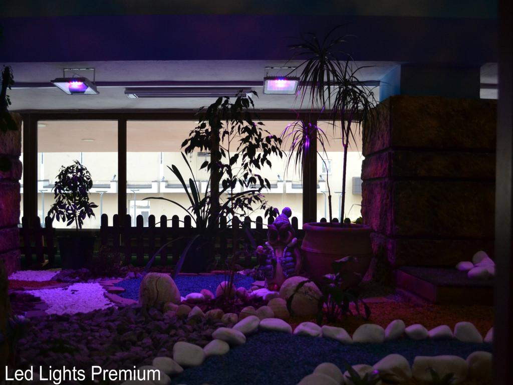 Установка фитопрожектора/декоративная подсветка