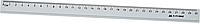 Лінійка алюмінієва 30см, колір: сріблястий