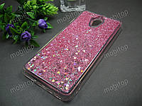 Силиконовый чехол с блестками Meizu M5 Note (розовый), фото 1