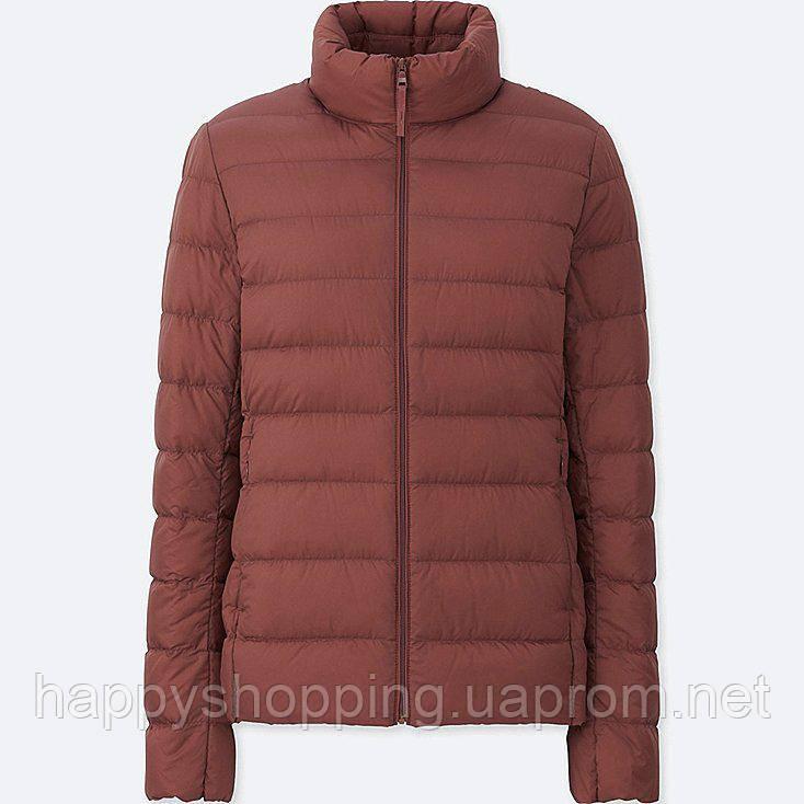 Женская  легкая куртка на пуху ultra light down осень/весна  Uniqlo (пакуется в мешочек)