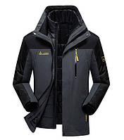 3 в 1 Ветро-Влагозащитная куртка+пуховик=парка 4XL