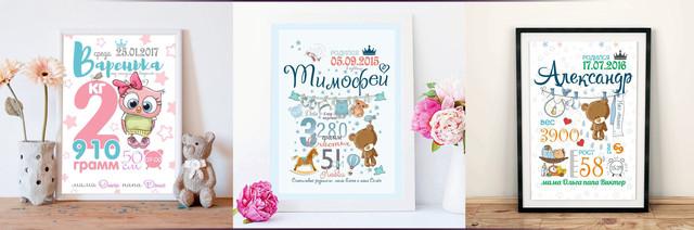 Заказать плакат на день рождения малыша
