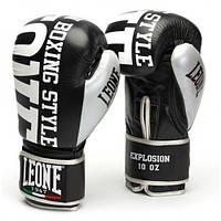 Боксерские перчатки Leone Explosion Black 10 ун.