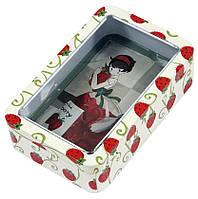Контейнер для сыпучих Бисквитница Клубничка, 250г ( металлическая коробка)