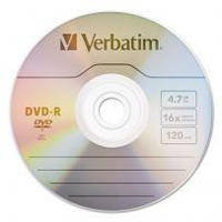 Диск Verbatim DVD-R 4,7Gb 16x Spindle Wrap 50 pcs