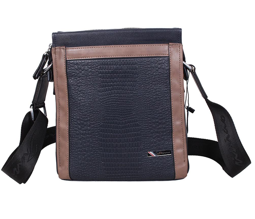 Мужская кожаная сумка 1395-1 черная